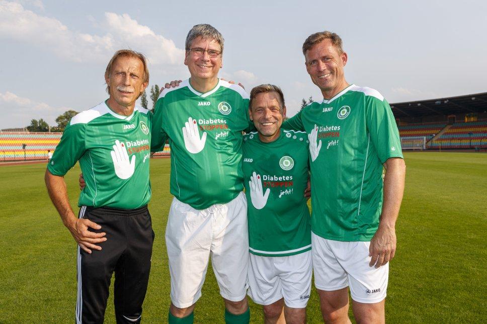 FC Diabetologie: Daum, Dr. Kröger, Hässler, Anderbrügge (v.l.n.r.)