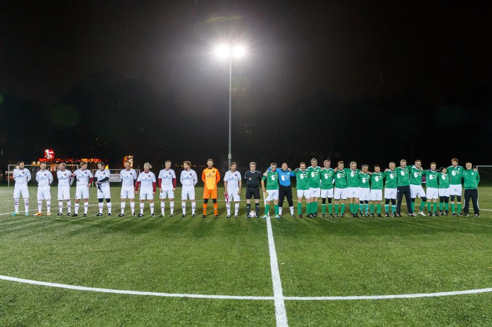 Fußballspiel Traditionsmannschaft Nürnberg gegen FC Diabetologie: Die Mannschaften