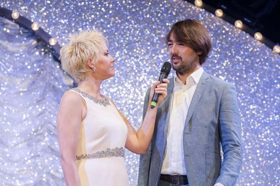 Inka Bause mit Bastian Hauck auf der Gala 2016