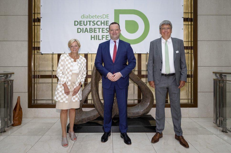 100 Jahre Insulin: Nicole Mattig-Fabian, Jens Spahn, Dr. Jens Kröger