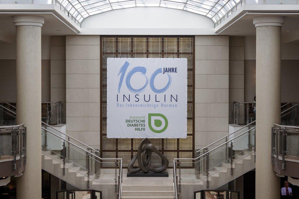 Event 100 Jahre Insulin: Eingangsbereich