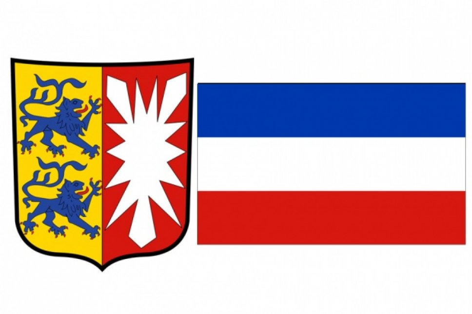 Wappen und Fahne von Schleswig Holstein