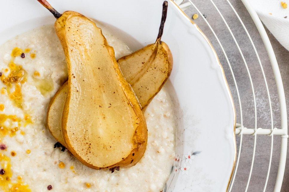 Birnen-Orangen-Porridge