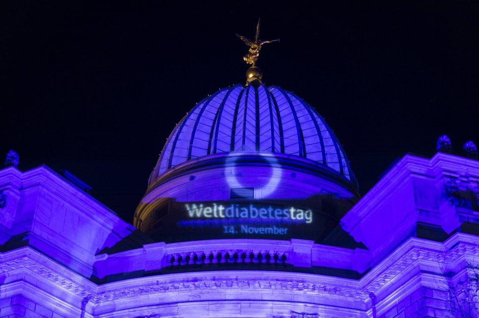 Blue Monument Challenge zum Weltdiabetestag 2018