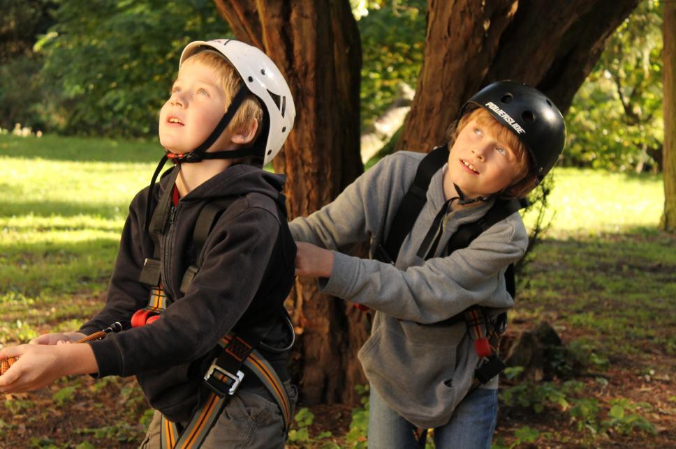 Bild Kinder beim Klettern