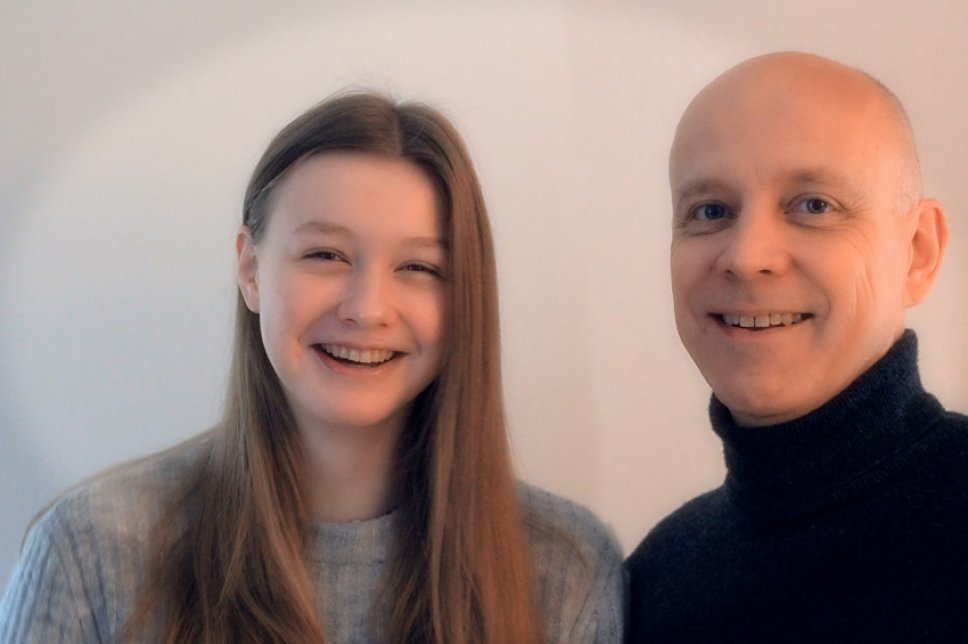 Lina Sontag mit Vater Bernd