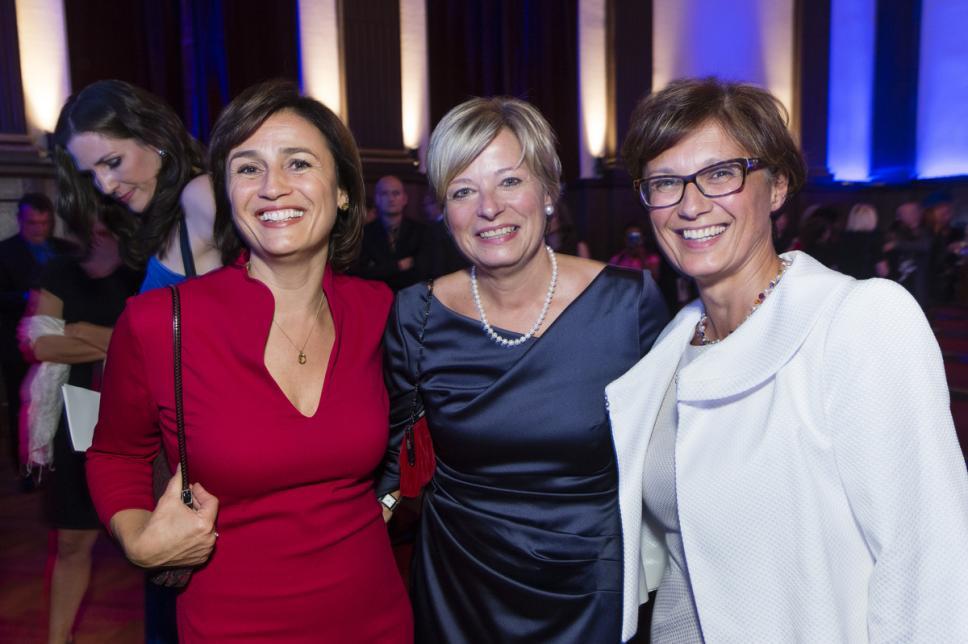 Maischberger, Nicole Mattig-Fabian & Professor Dr. med. Olga Kordonouri auf der Diabetes Charity Gala 2013