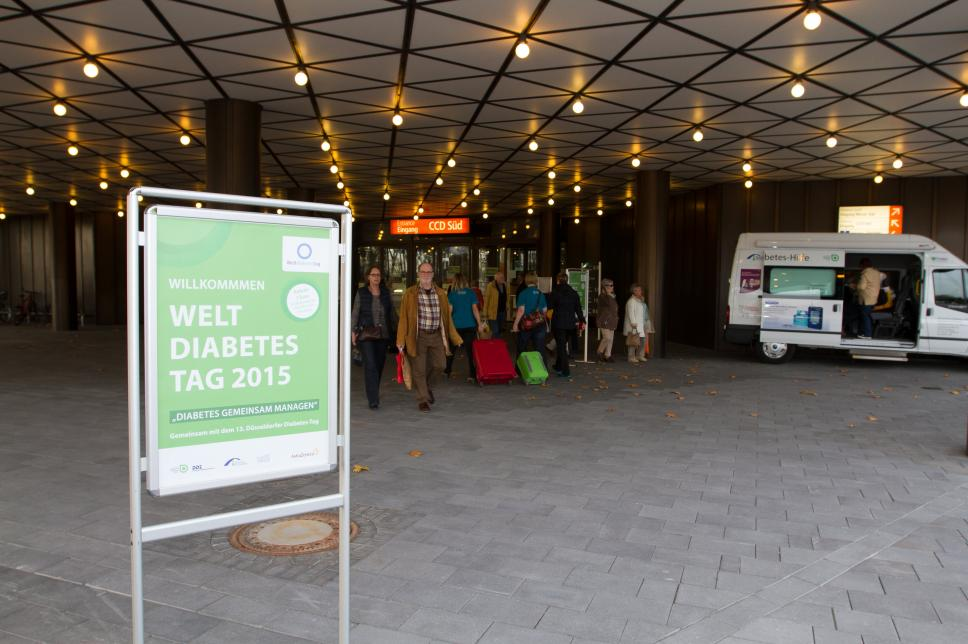 Weltdiabetestag 2015 - Ankunft