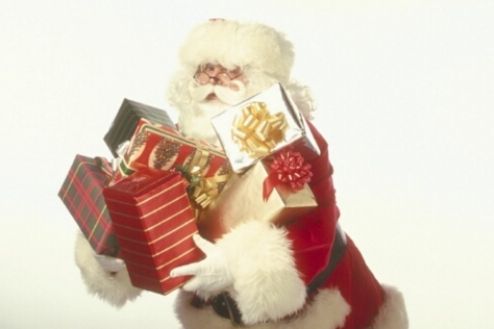Geschenke mit Weihnachtsmann