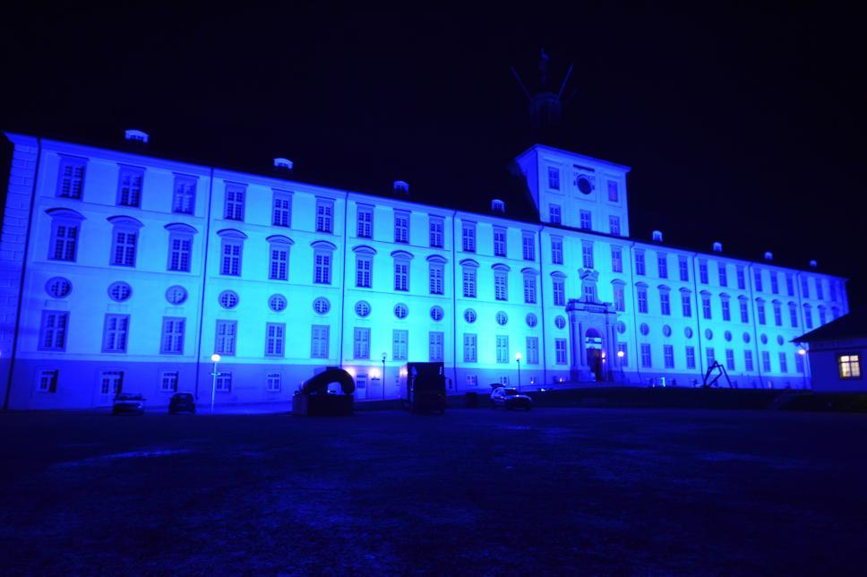 Carsten Petersen Weltdiabetestag Schleswig blau 2015