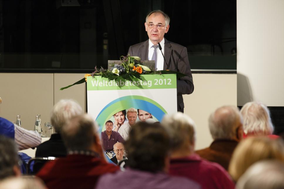 Prof. Dr. Rüdiger Landgraf beim Weltdiabetestag 2012