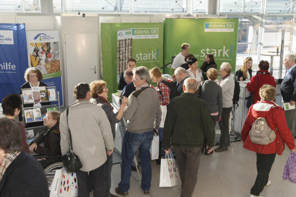 Weltdiabetes Tag 2014 in Leipzig - Messestände