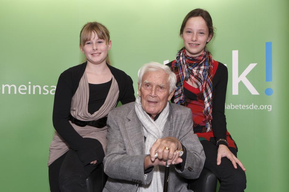 Joachim Fuchsberger beim Weltdiabetestag 2011