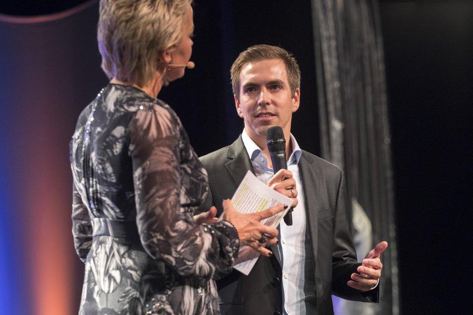 Inka Bause und Philipp Lahm auf der Gala 2017