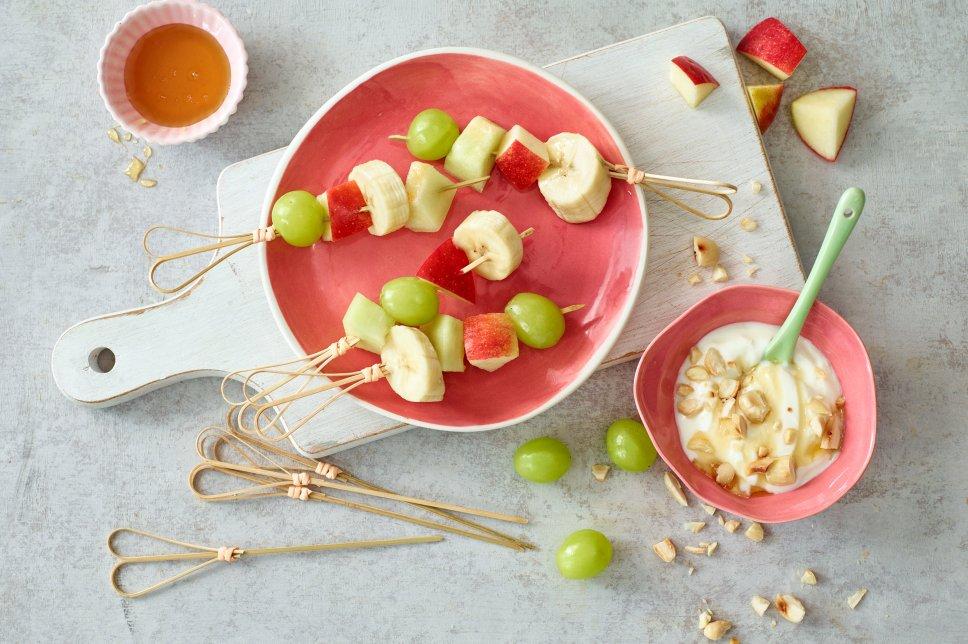 Obstspießchen mit Dip