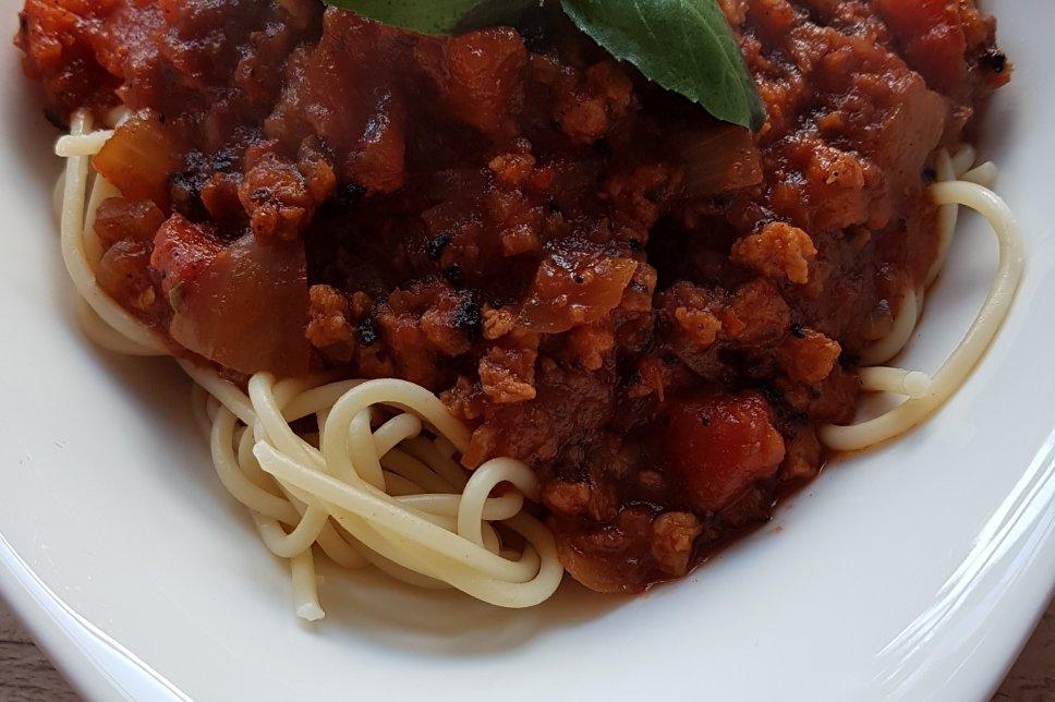 Spaghetti mit Veggie Bolognese