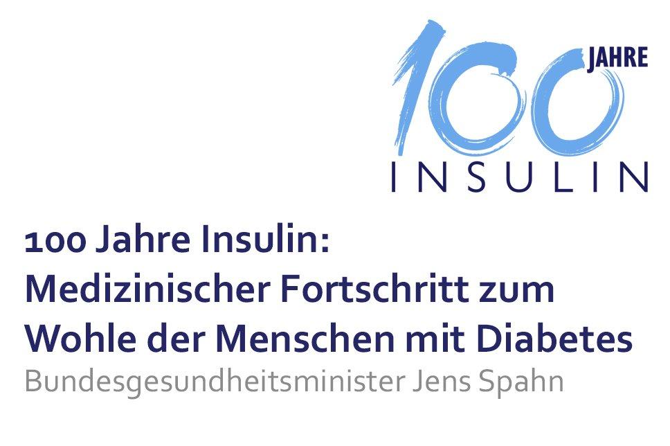 Vortrag 100 Jahre Insulin Jens Spahn Medizinischer Fortschritt
