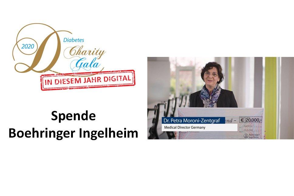 Scheckübergabe Boehringer Ingelheim Gala 2020
