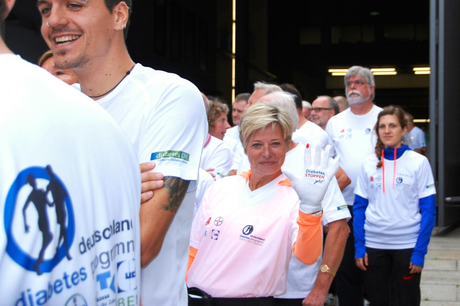 Warteschlange ISTAF - Diabetes Stoppen