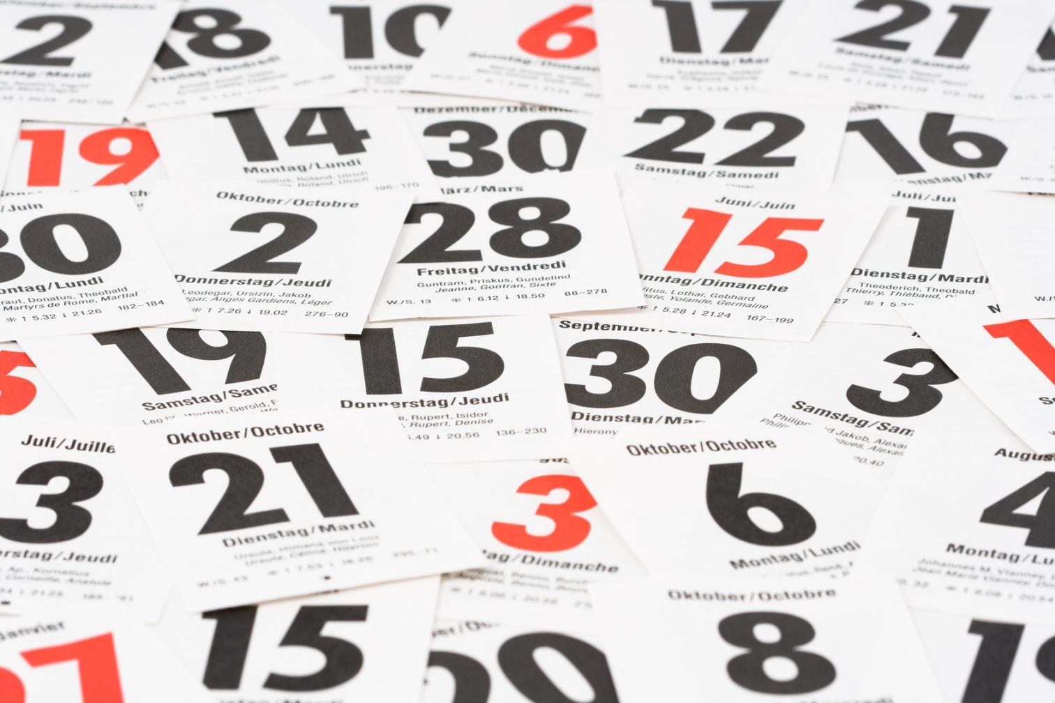Kalenderblätter - Termine