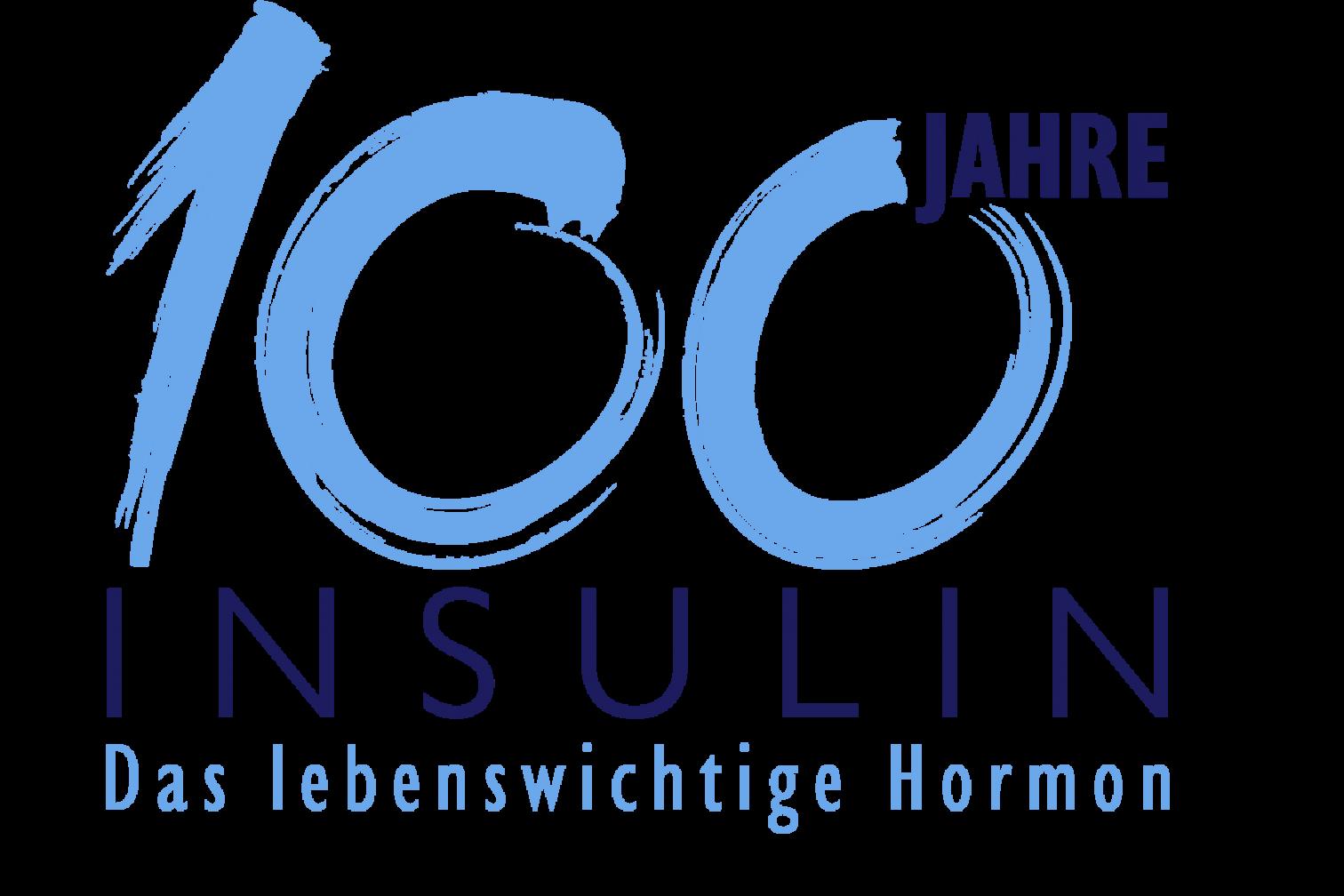 Logo 100 Jahre Insulin mit Claim