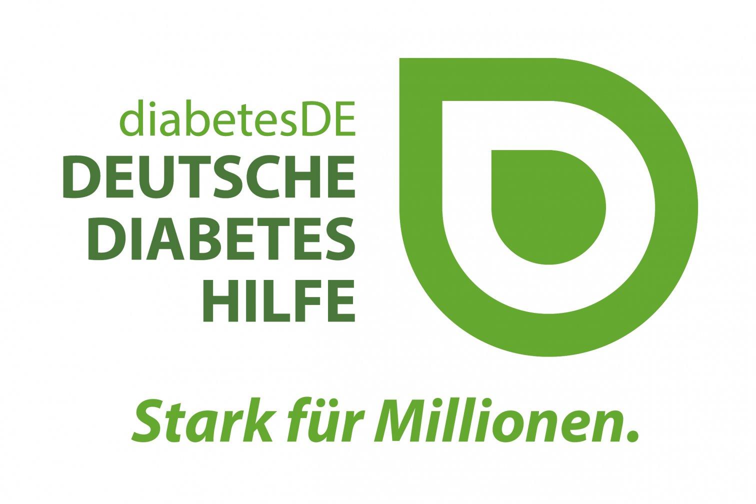 Logo diabetesDE neu mit Slogan