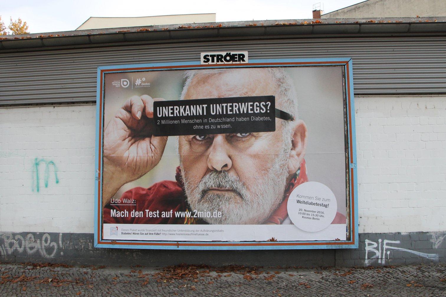 Plakat Unerkannt unterwegs Udo Walz