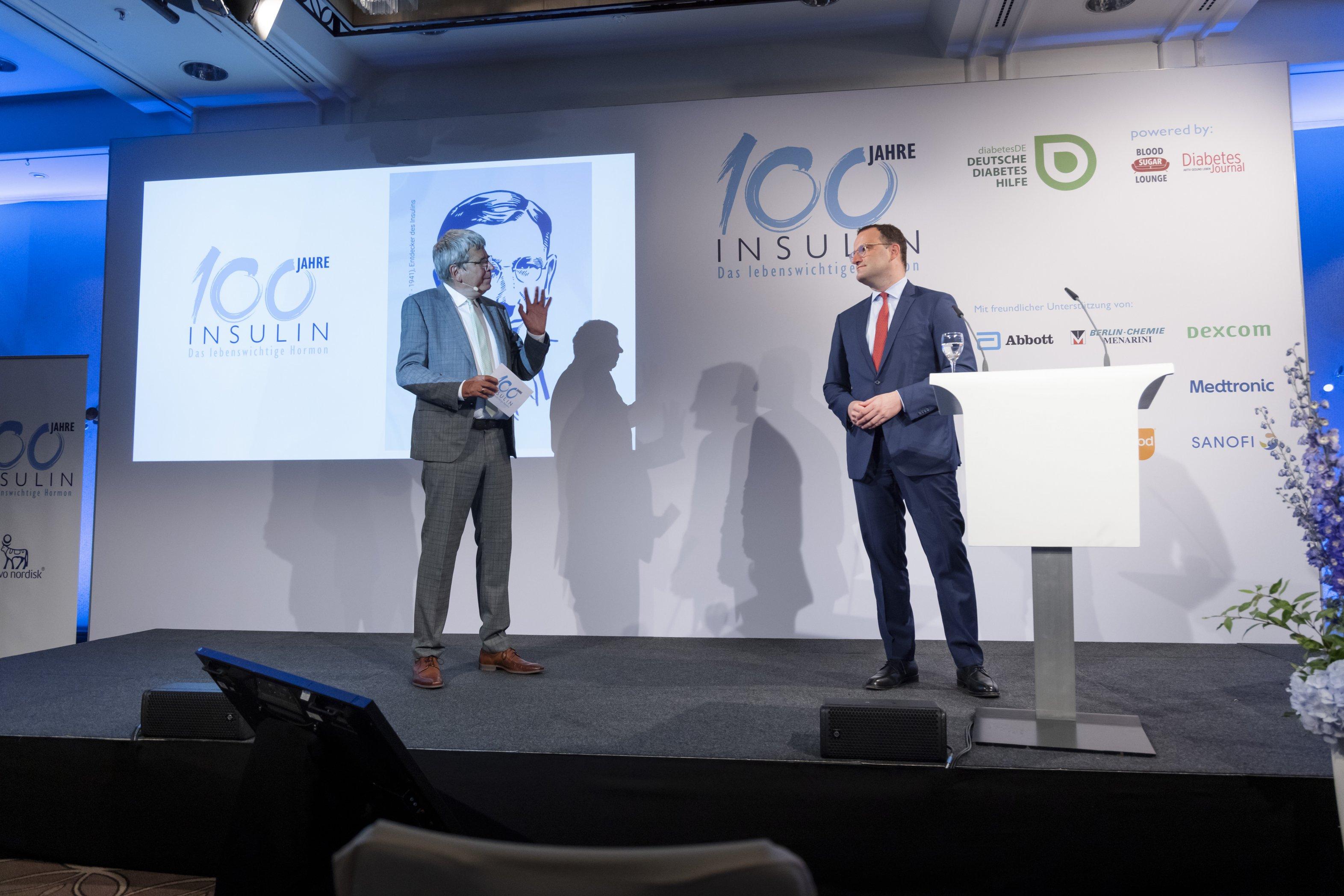 Event 100 Jahre Insulin: Dr. Kröger stellt kritische Fragen an Gesundheitsminister Jens Spahn