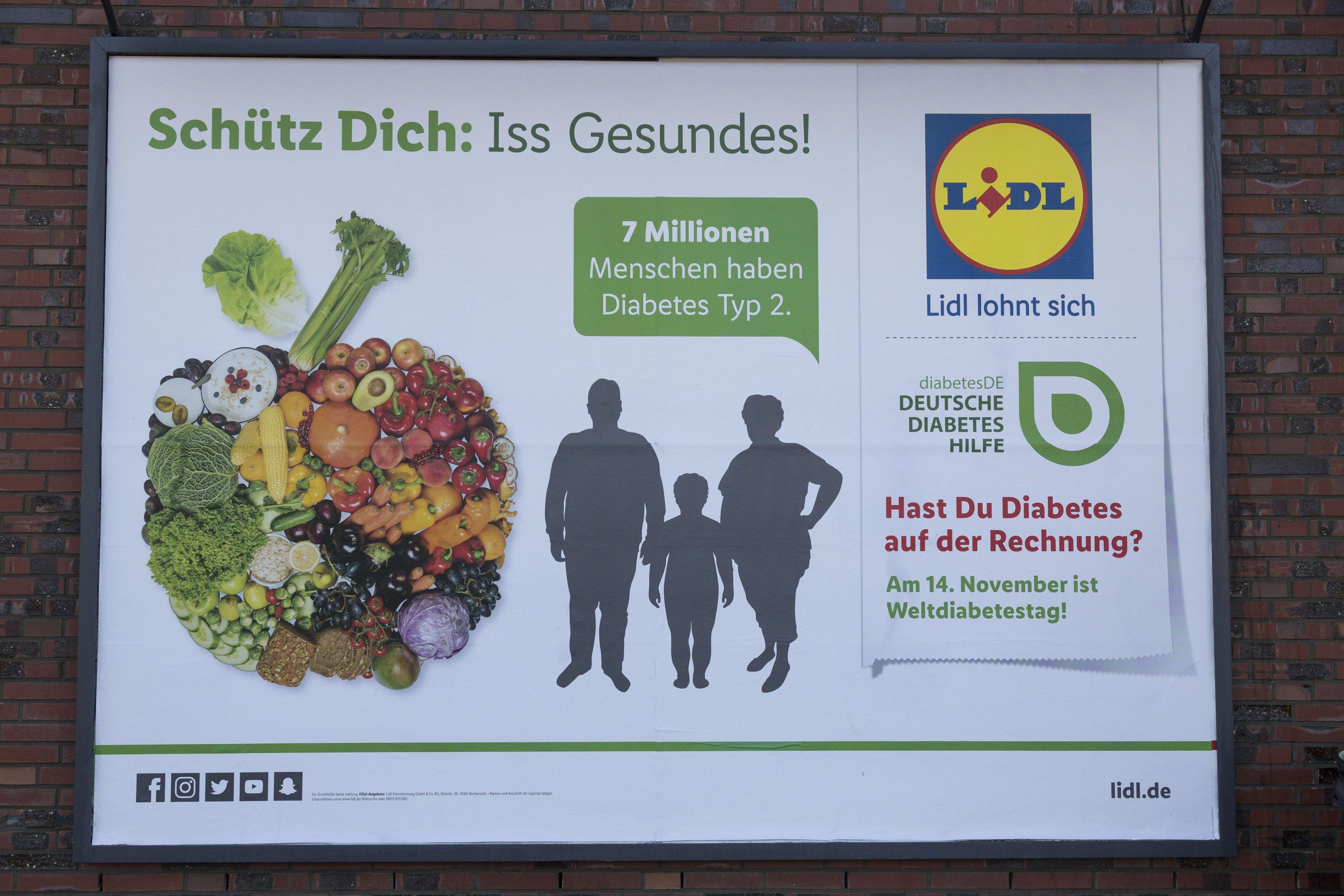 Plakat-Aktion mit Lidl