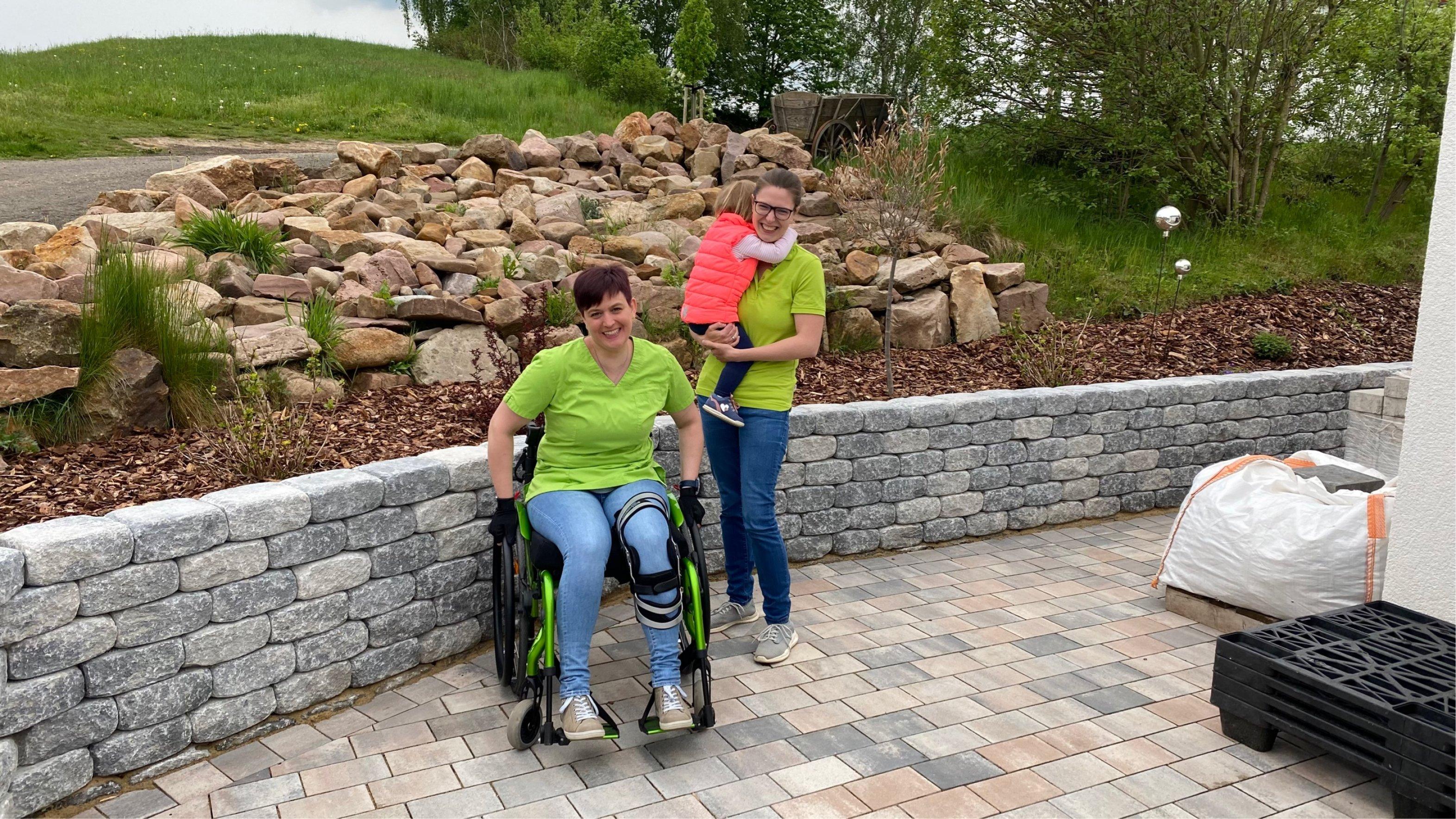 Carolin Peter und Isabel Niedrighaus vom Diabeteszentrum Minden beim Diabetes-Lauf