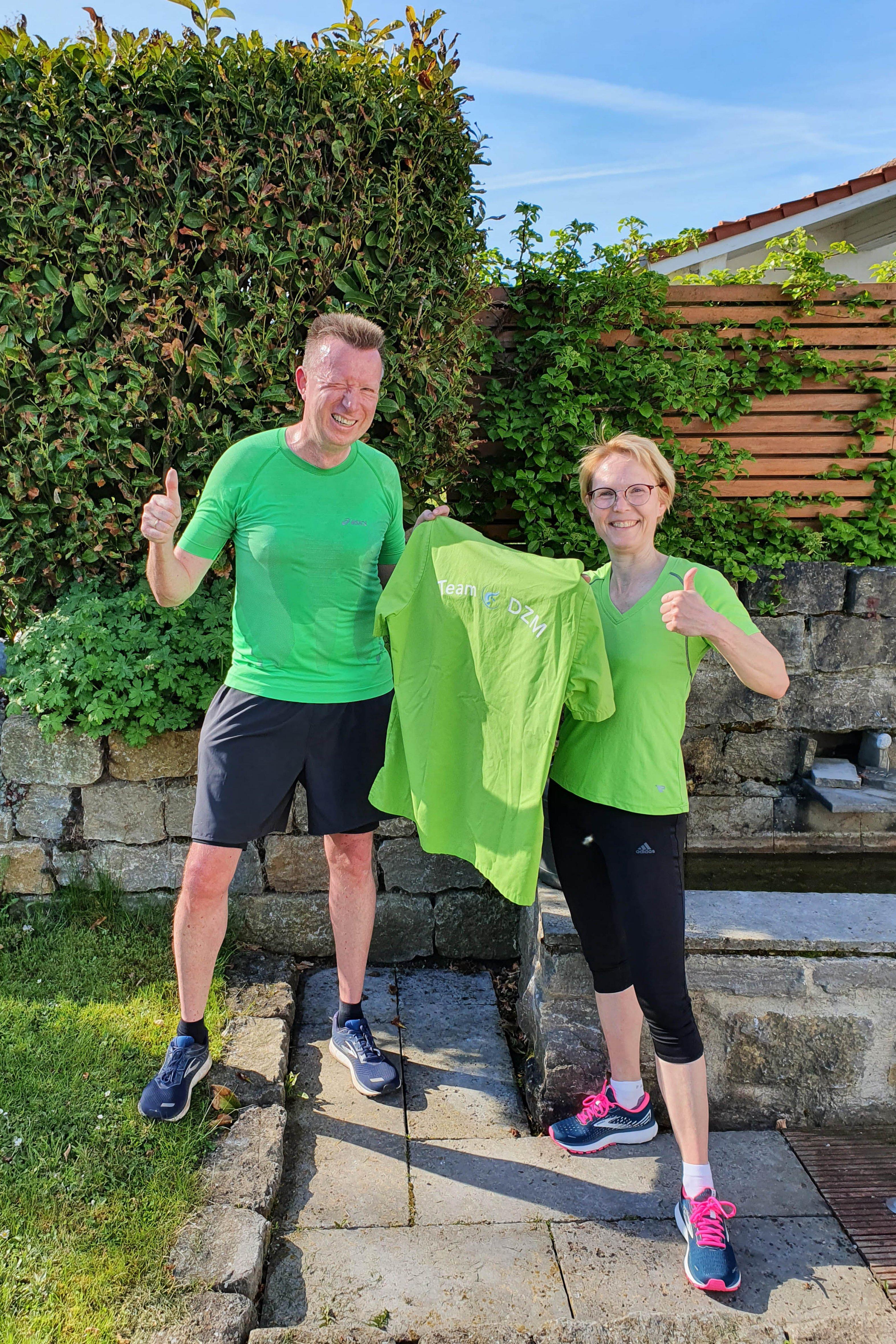 Dr. Carsten und Dr. Astrid Volkery vom Diabeteszentrum Minden beim Diabetes-Lauf