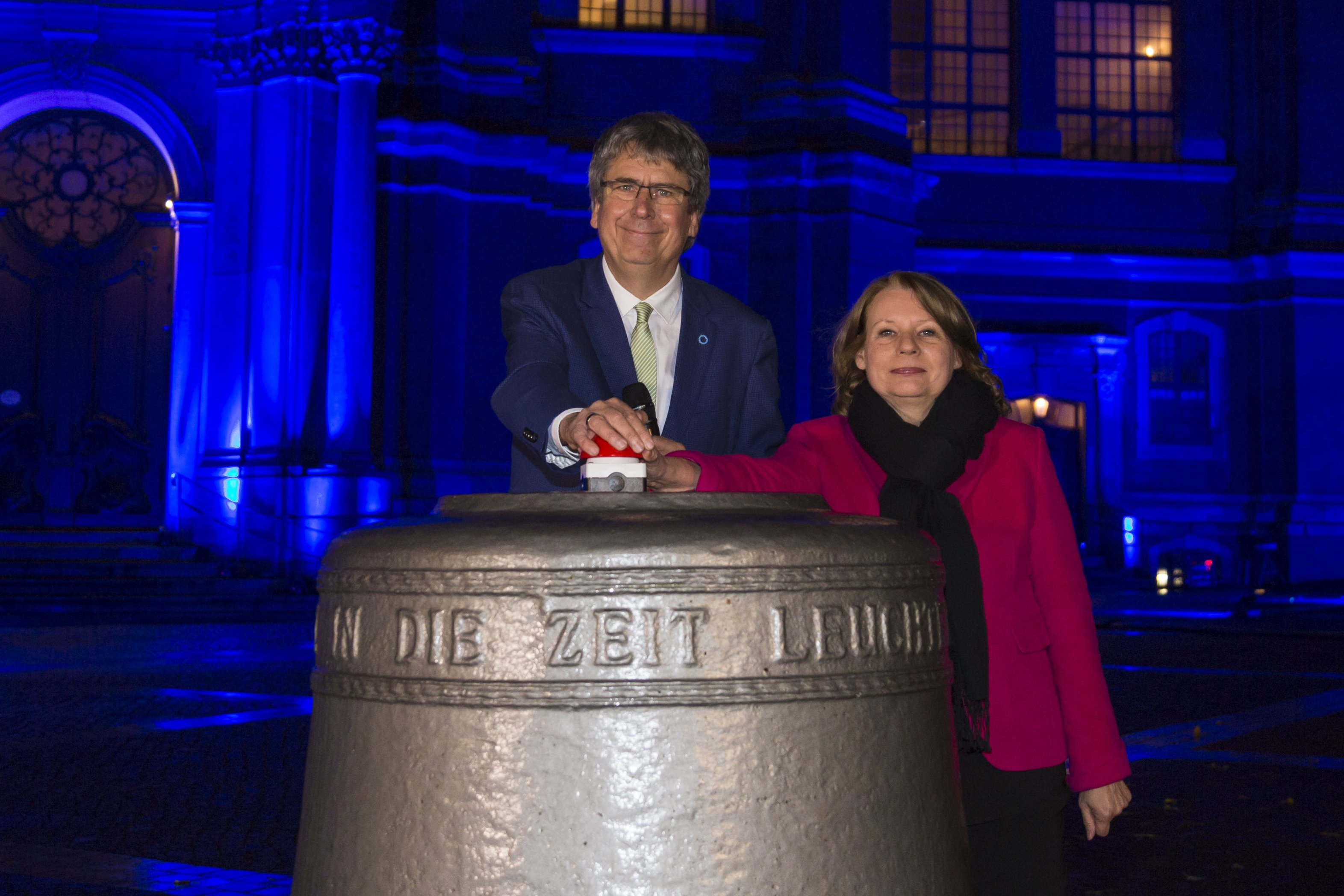 Illumination des Michels in Hamburg - Weltdiabetestag 2017
