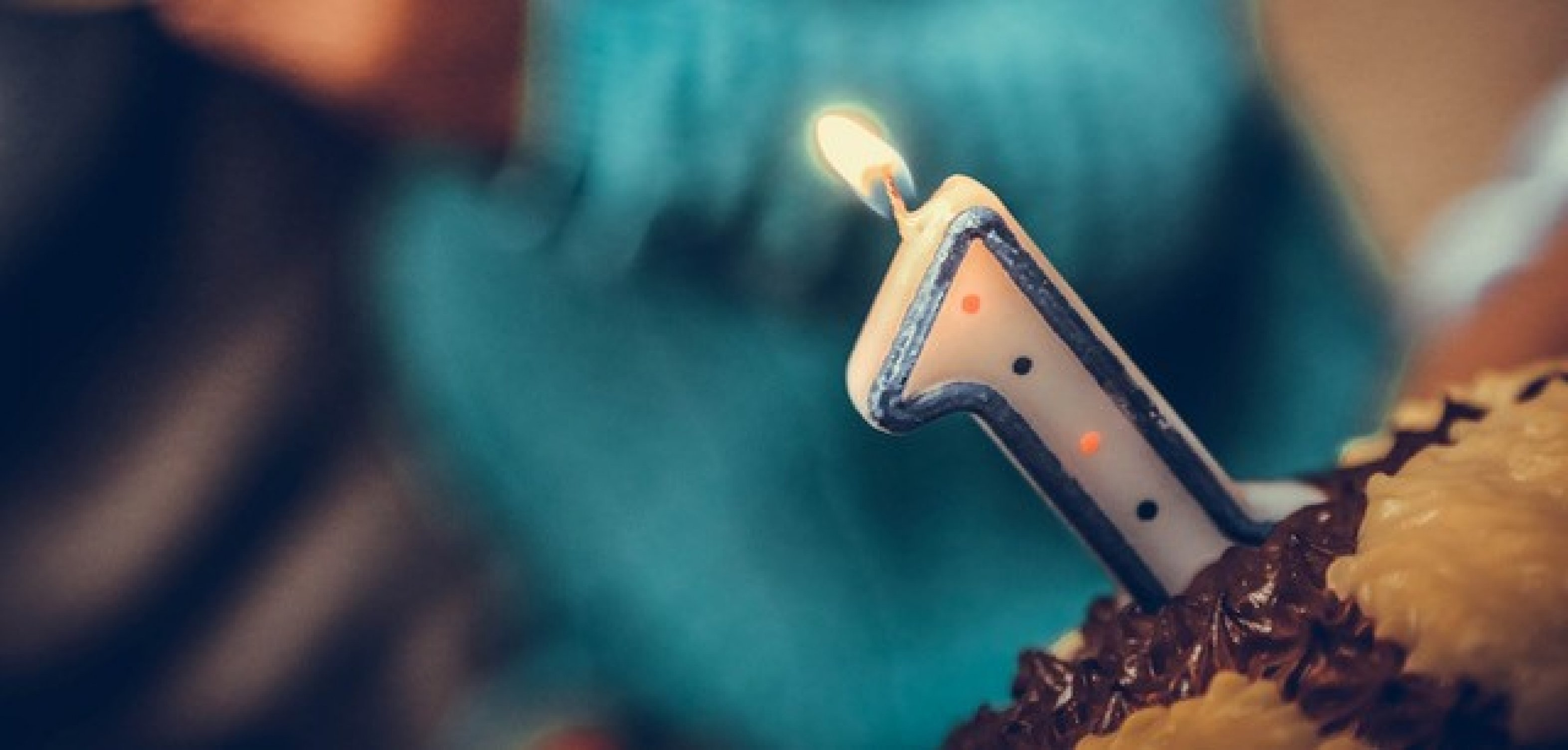 Geburtstagskerze 1