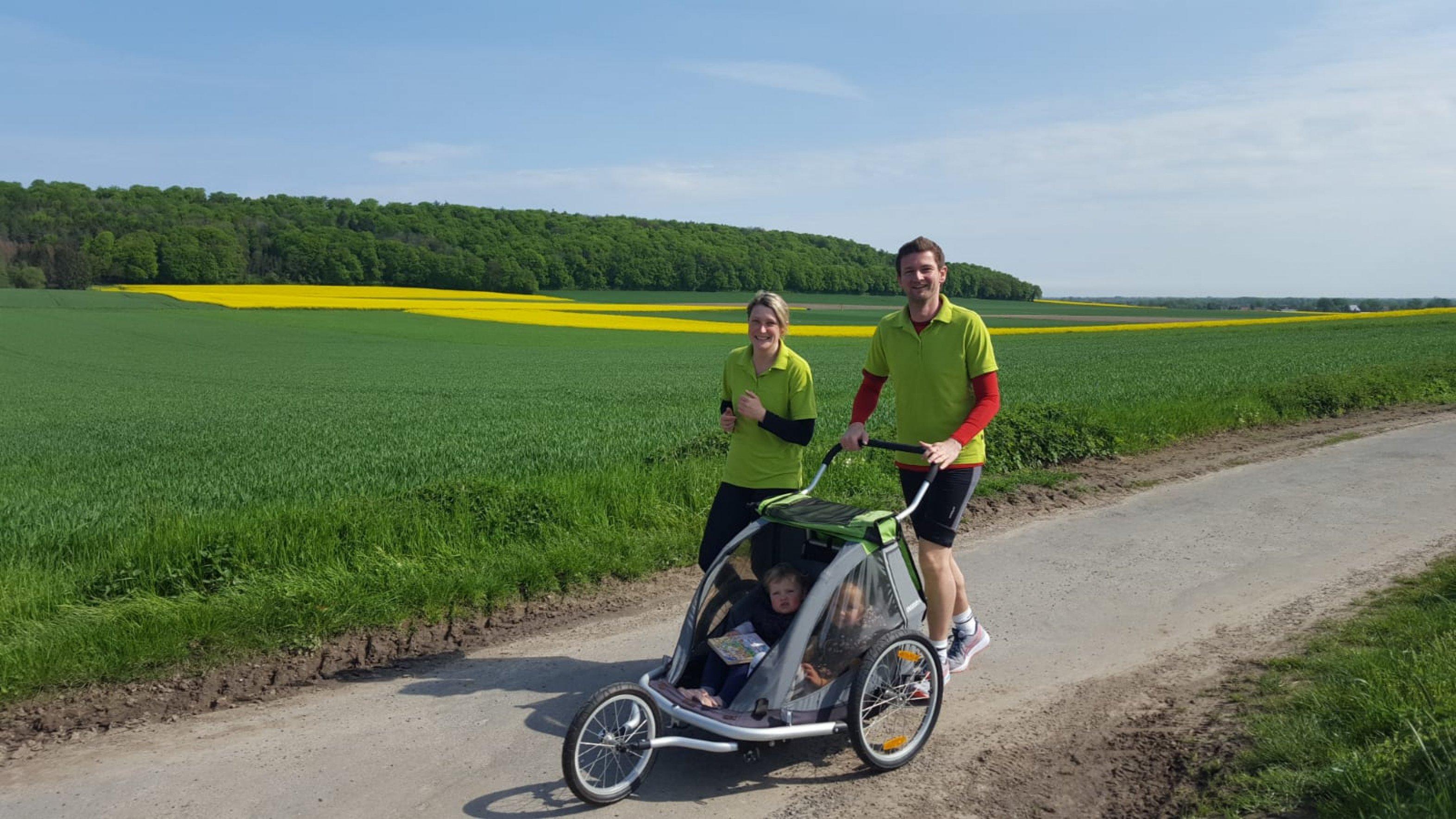 Helena Varenkamp und Familie vom Diabeteszentrum Minden beim Diabetes-Lauf