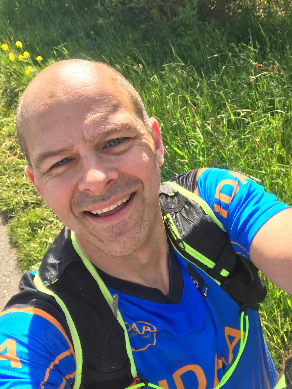 Malte Thoennißen vom LV NRW der DDH-M bei seinem Diabetes-Lauf