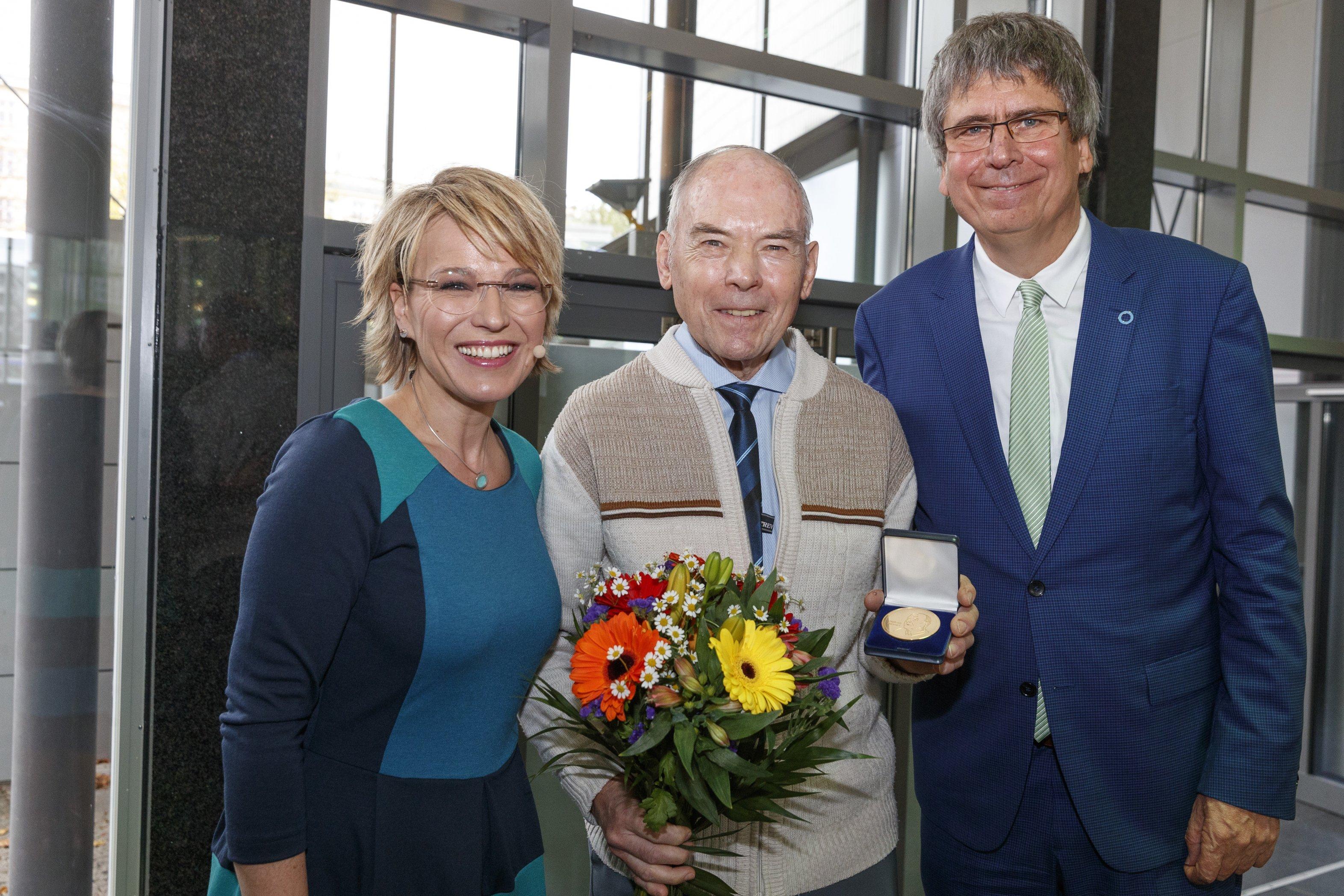 Mehnert-Medaille Preisträger Erich Abt beim Weltdiabetestag 2017