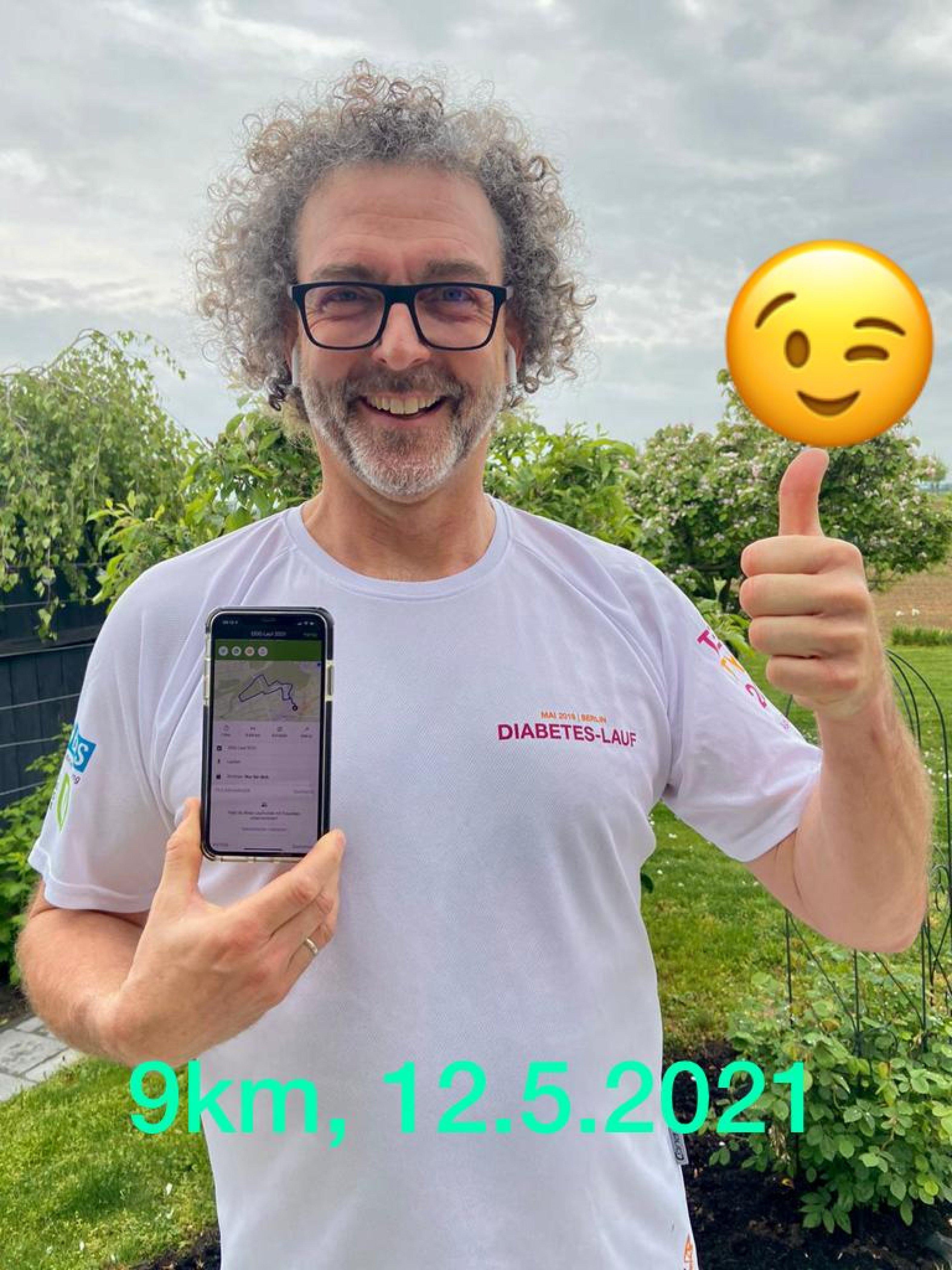 Ulrich Kluger beim Diabetes-Lauf