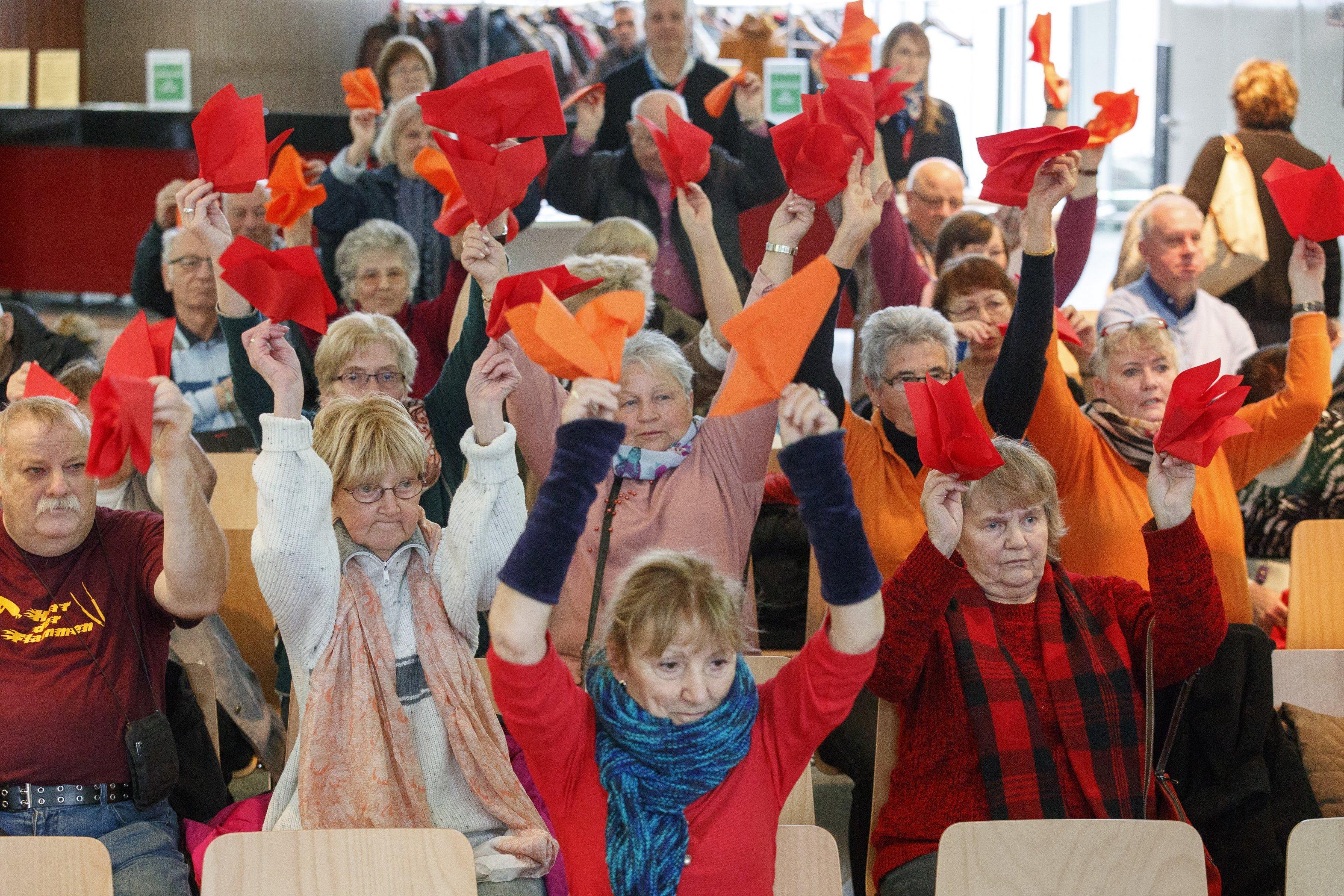 Seniorentanz zum Mitmachen beim Weltdiabetestag 2017