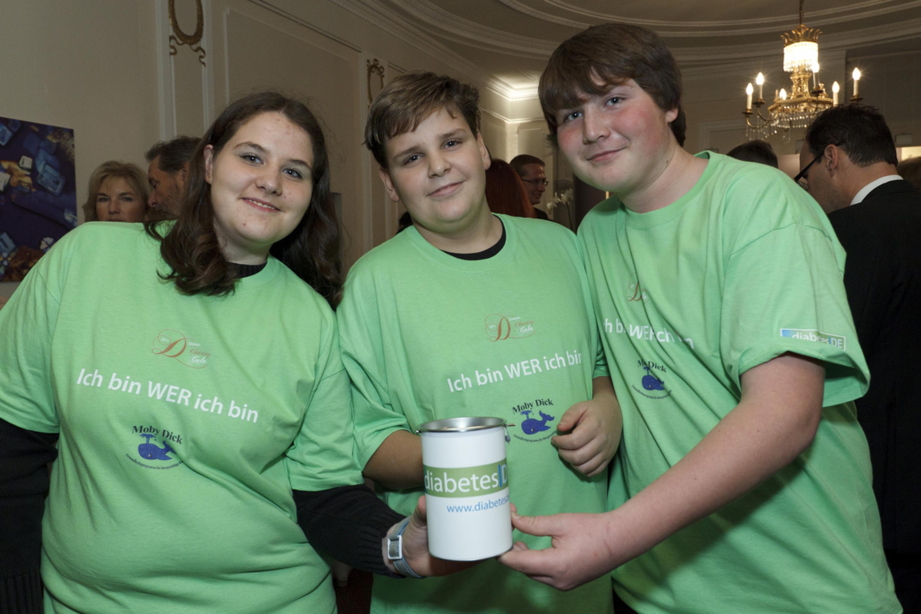 "1. Diabetes-Charity-Gala, 2.11.2011 – Kinder vom Projekt ""Moby Dick"""