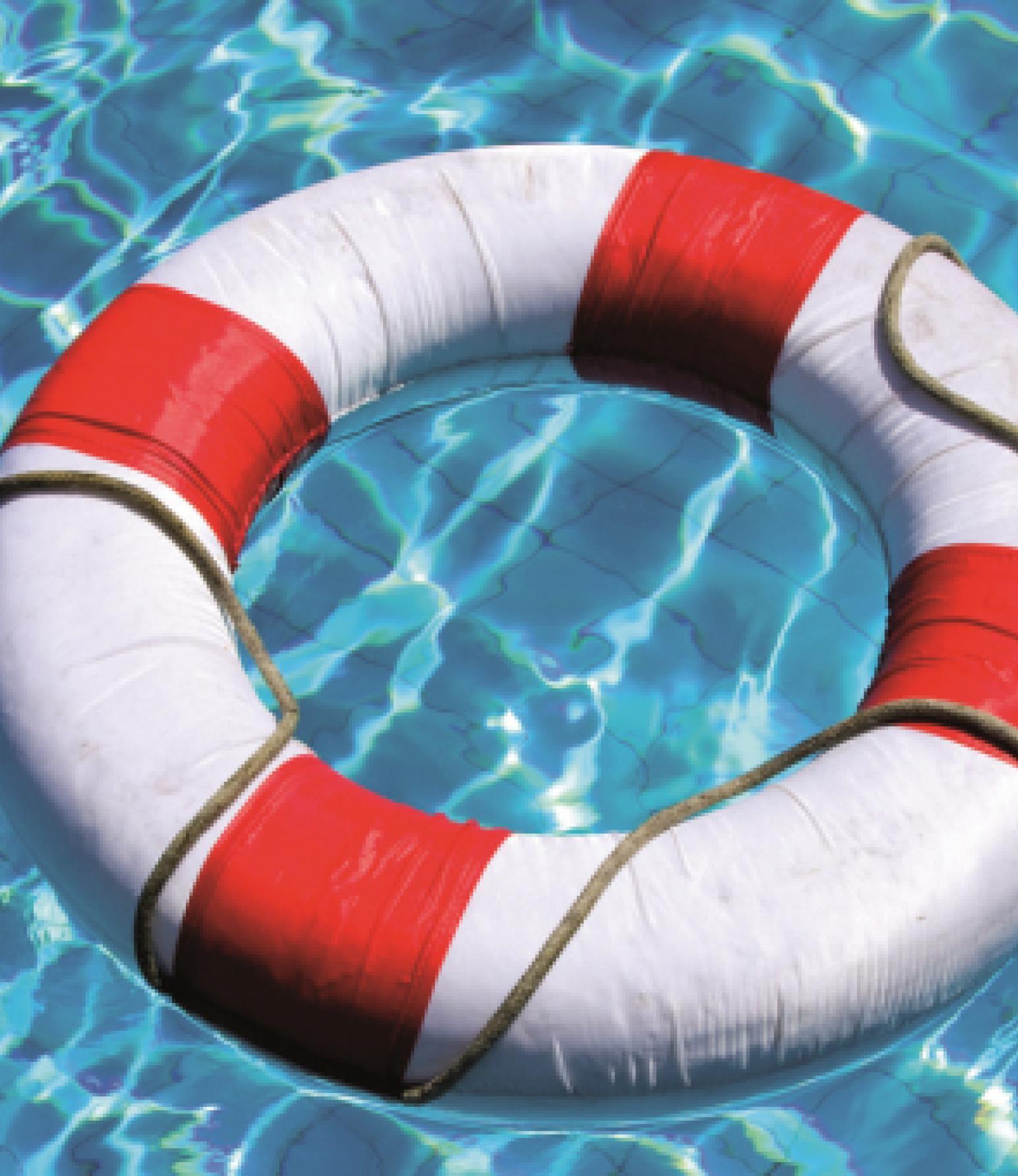 Rettungsring im Schwimmbad