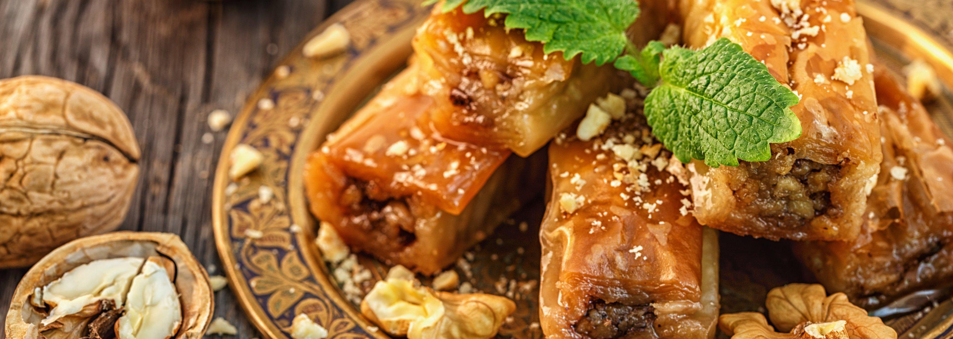 Baklava mit Walnüssen - Fasten zu Ramadan