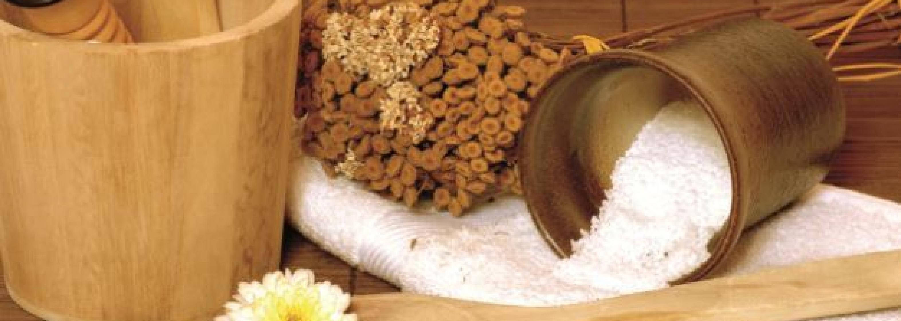 Sauna Wellness Utensilien
