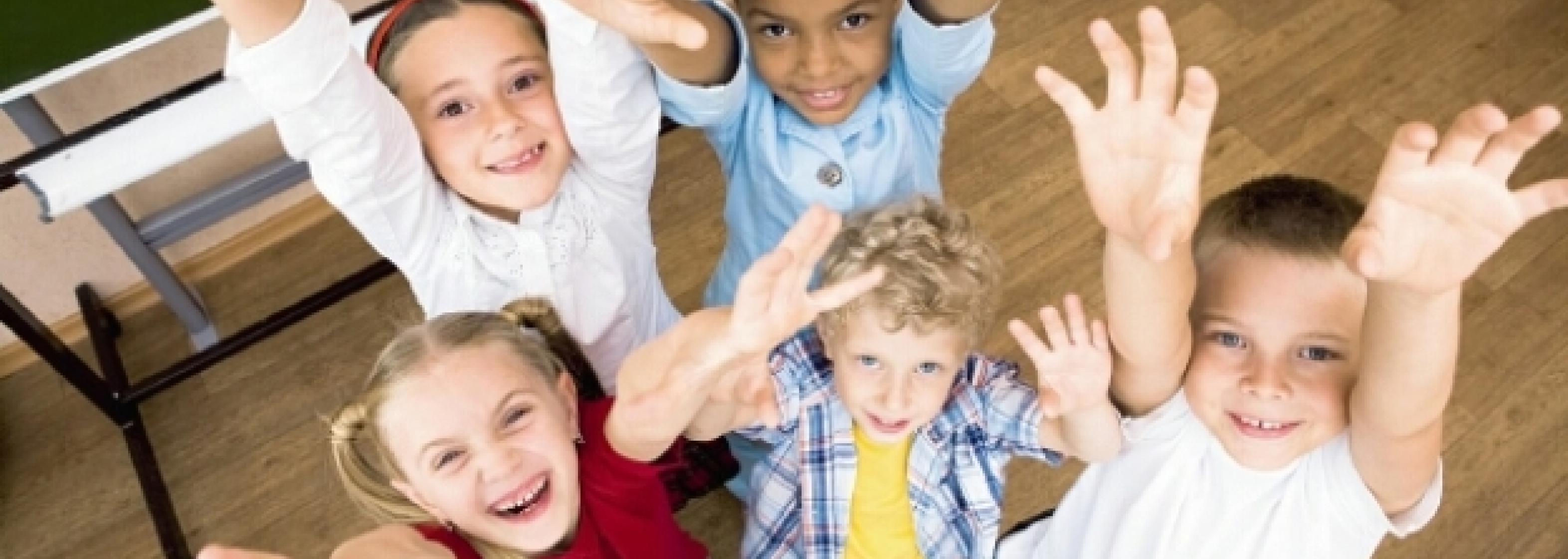 Kinder jubeln