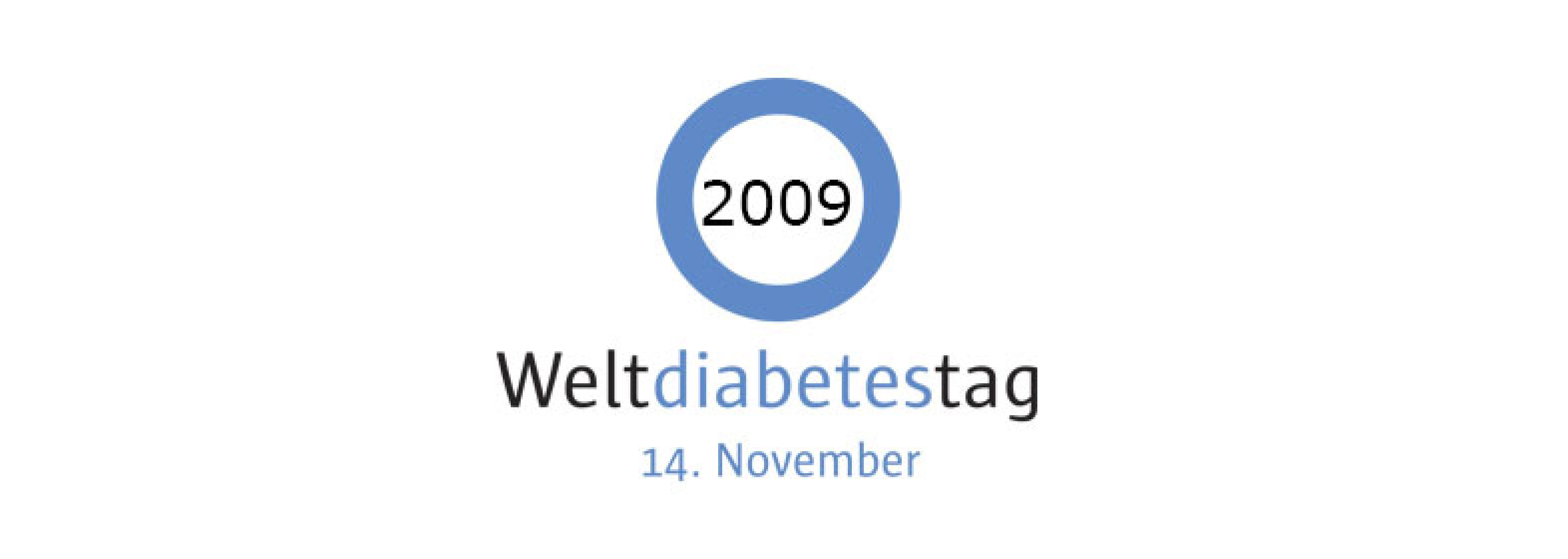 Hero-Bild kurz Logo Weltdiabetestag 2009
