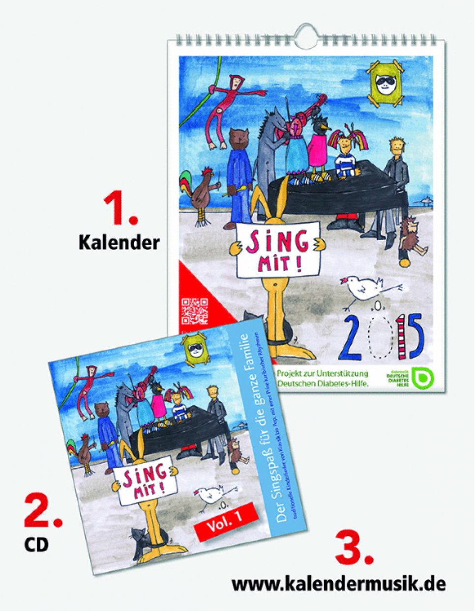 Sing Mit Kalender Audio CD