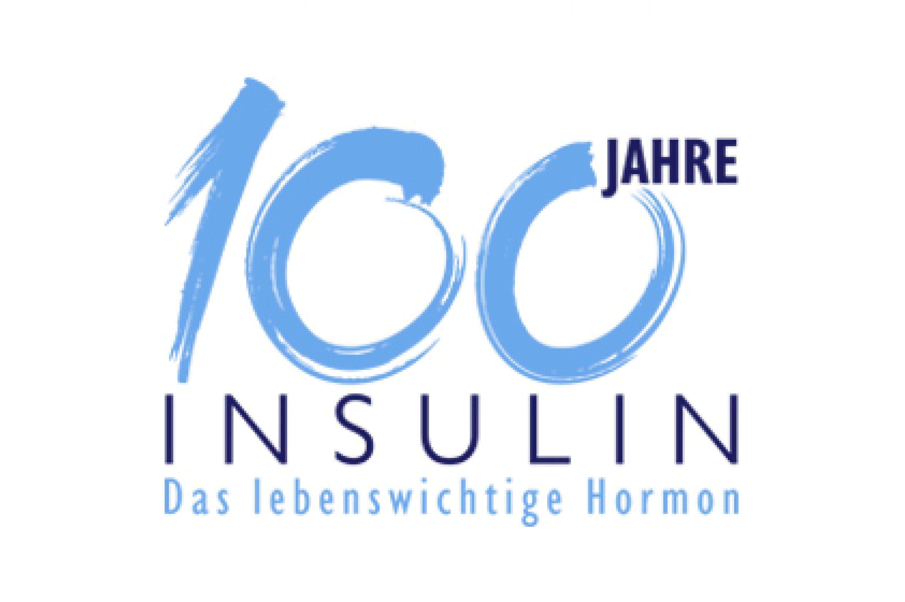 Logo 100 Jahre Insulin mit Claim Hero-Bild