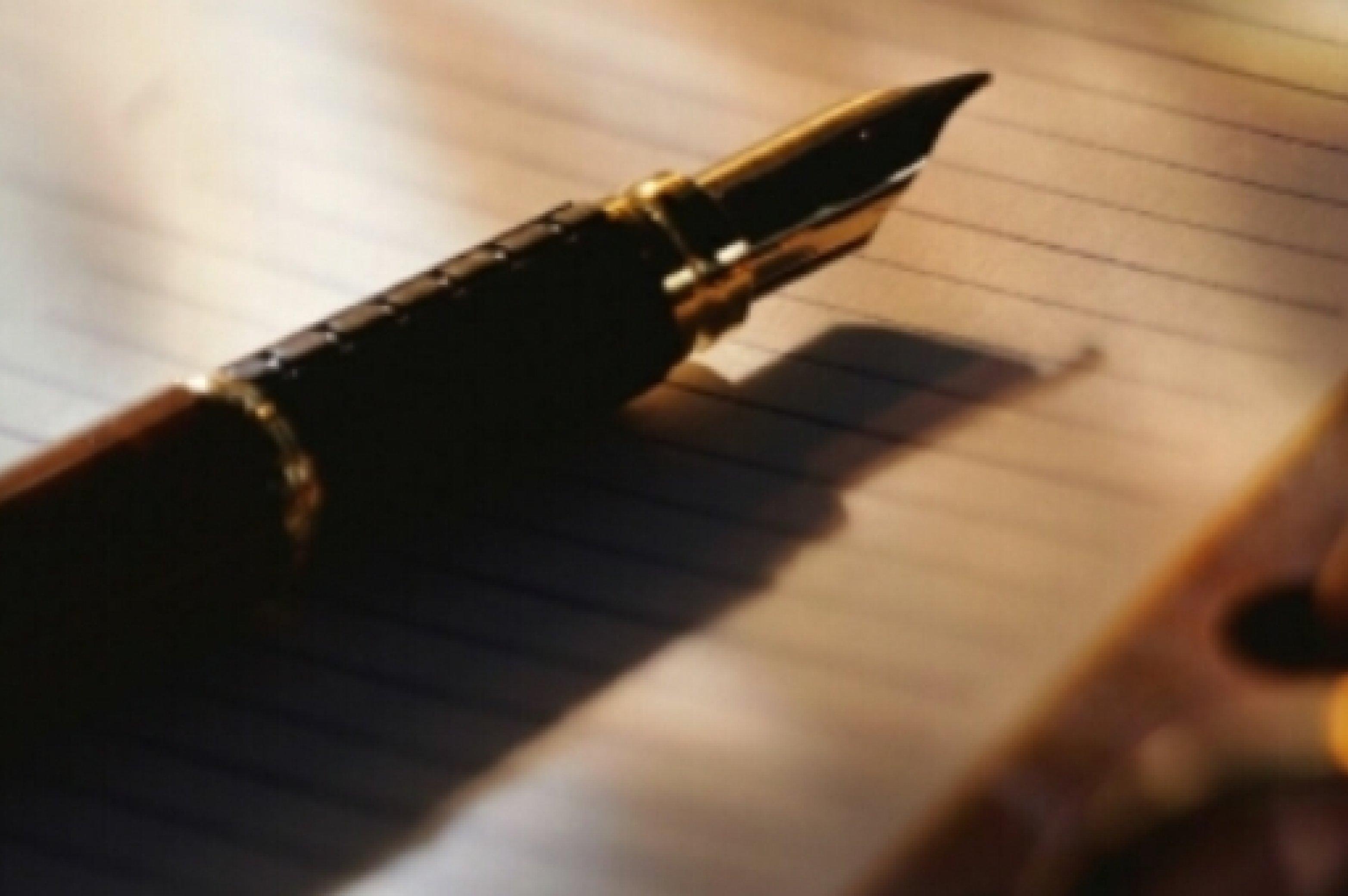Stift Füllfederhalter Tisch