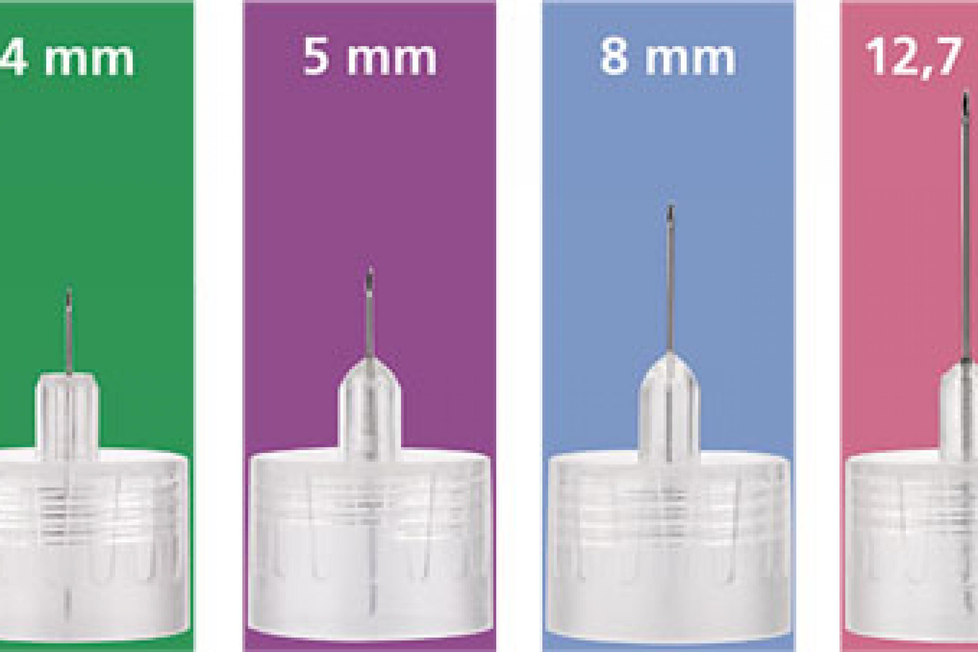 4 richtige Nadellängen