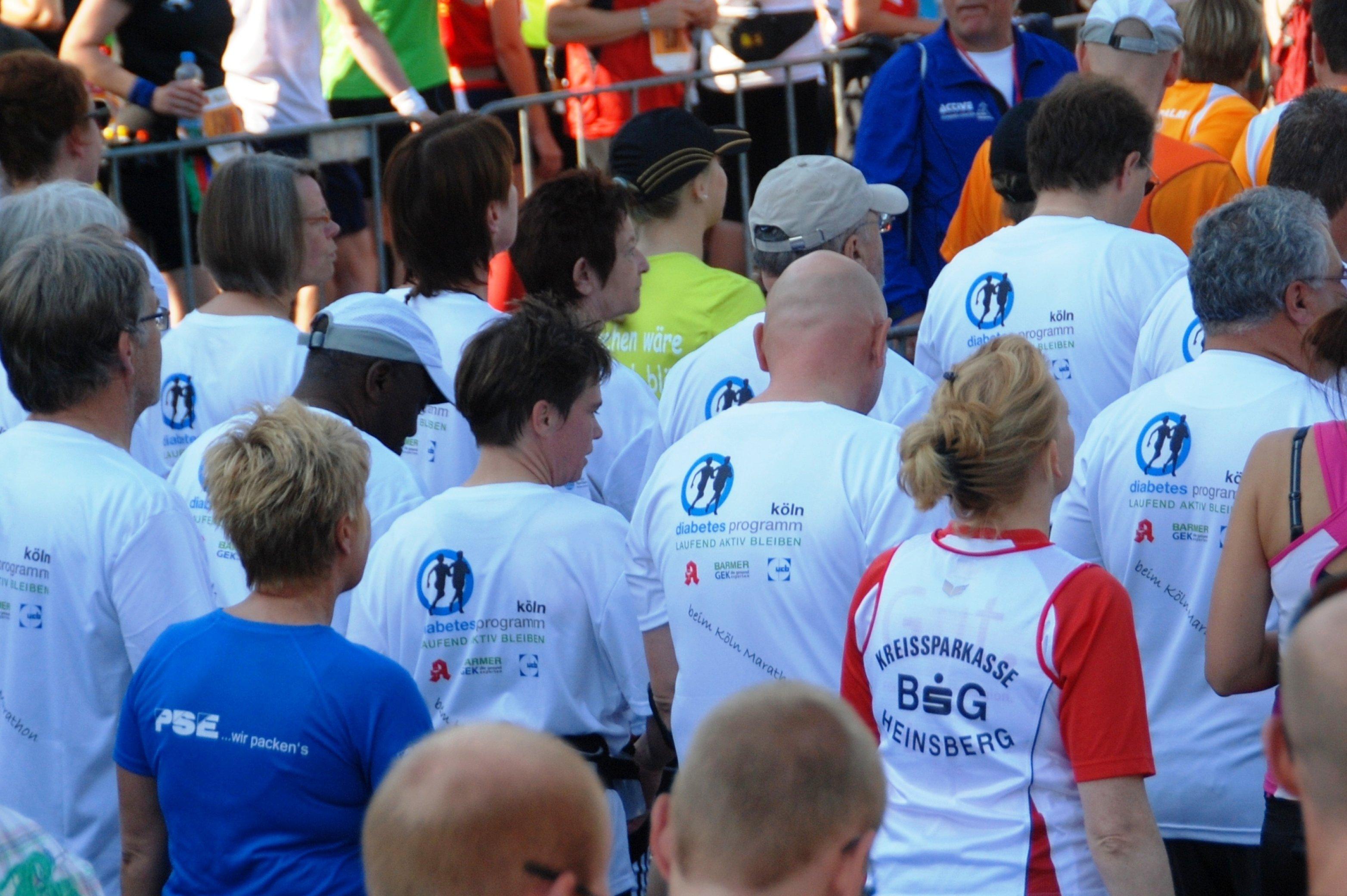 Diabetes Lauf - Gruppe vorm Start