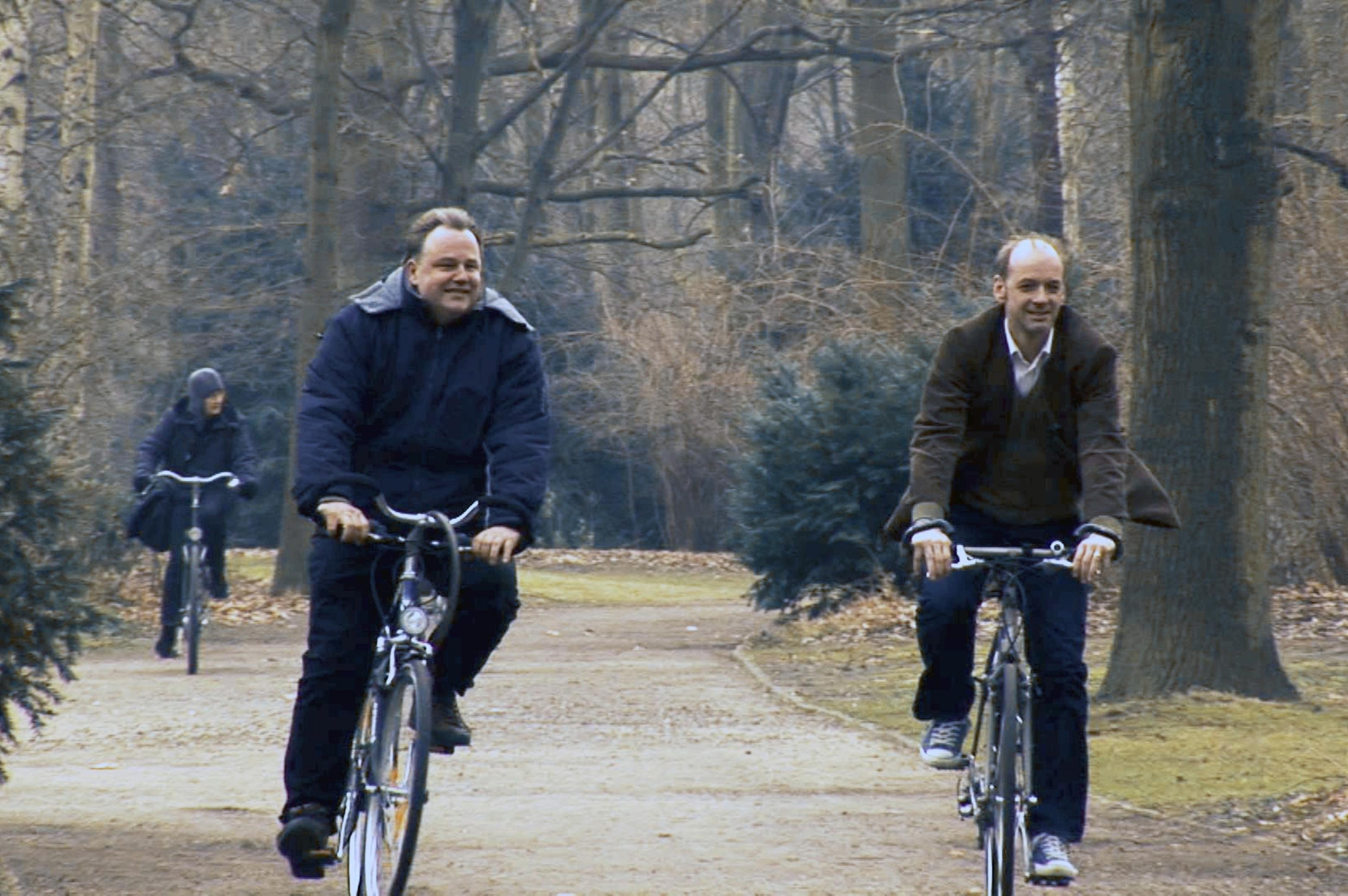 Fahrrad fahren im Park